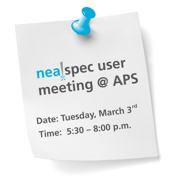 neaspec user meeting at the APS