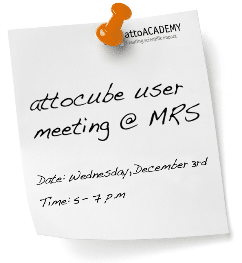 Attocube user meeting @ MRS