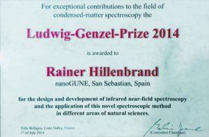 Ludwig Genzel Prize 2014